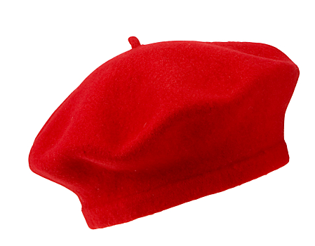 Beret Cap in Red