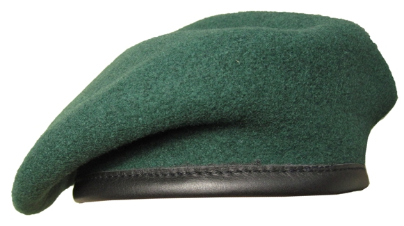 Beret Cap in Army Green
