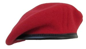 Beret Cap in Mehron (Dark Red)